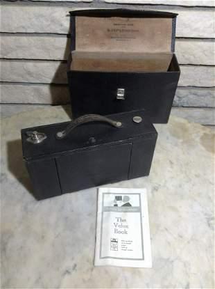 No 3 Folding Brownie Camera with case by Eastman Kodak