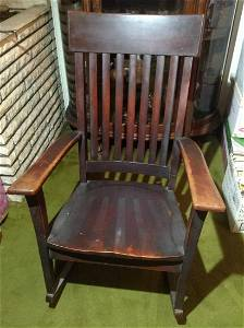 """Early Mission Style Rocking Chair 41"""" tall"""
