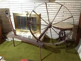 "Antique Wool Wheel 86""x59.5"""