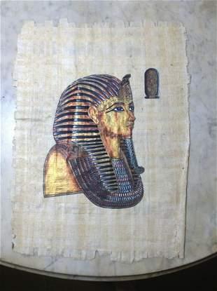"Original Egyptian Painting on Papyrus 13.5""x10"""