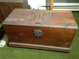 """Early Wood Chest 36""""x19""""x17"""""""