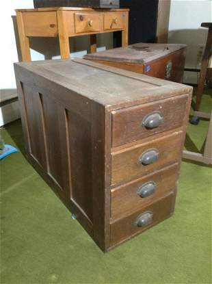 """Early Wood Chest of Drawers 29""""x20""""x13"""""""