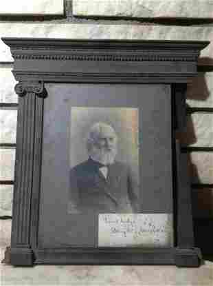 1800s Henry Wadsworth Longfellow Portrait Photograph