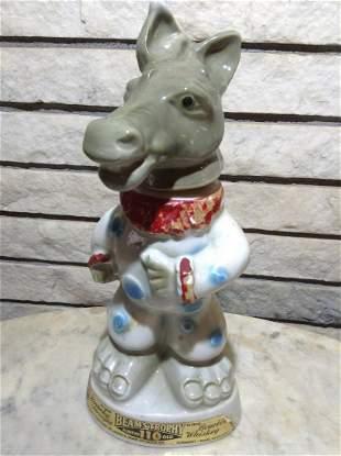 Jim Beam Regal China Donkey Decanter (Cork Broken)
