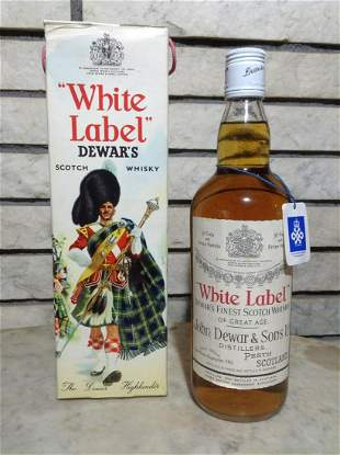 John Dewar & Sons White Label Scotch Sealed with the
