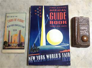 1939 New York World's Fair Guide Book, foldout map and