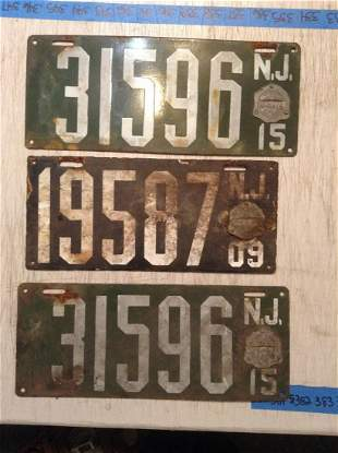 Early Porcelain License Plates