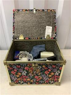 Lot of sewing supplies in chest