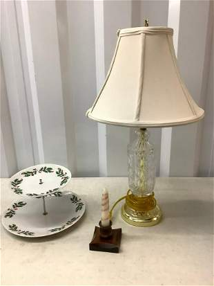 Crystal lamp candle holder and more