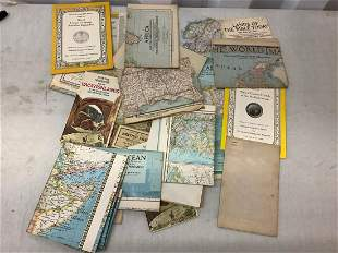Large lot of vintage maps various countries and time