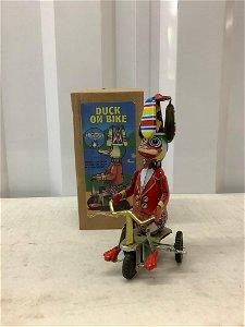Duck on Bike tin toy