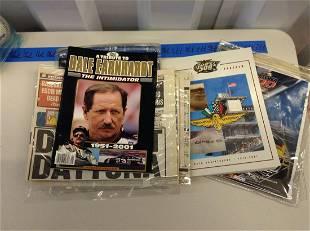 Lot of Nascar programs and Dale Ernhardt memorabilia