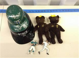 Lot of sports memorabilia signed Trenton Thunder mini