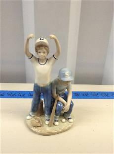 Ceramic basaeball statue