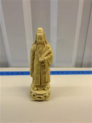 """Chinese 11"""" carved bone statue"""
