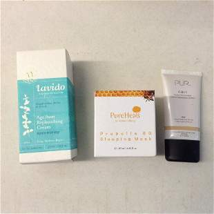 pure heals sleeping mask and more in the boxes