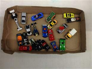 Box of Hot Wheels and Other Toy Cars