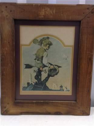 """The Dreamer"" framed early print 15x19"