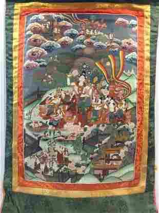 Asian artwork on a scroll
