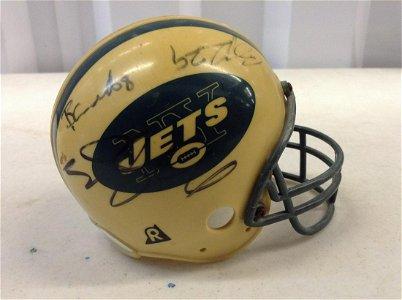 NY Jets signed mini helmet