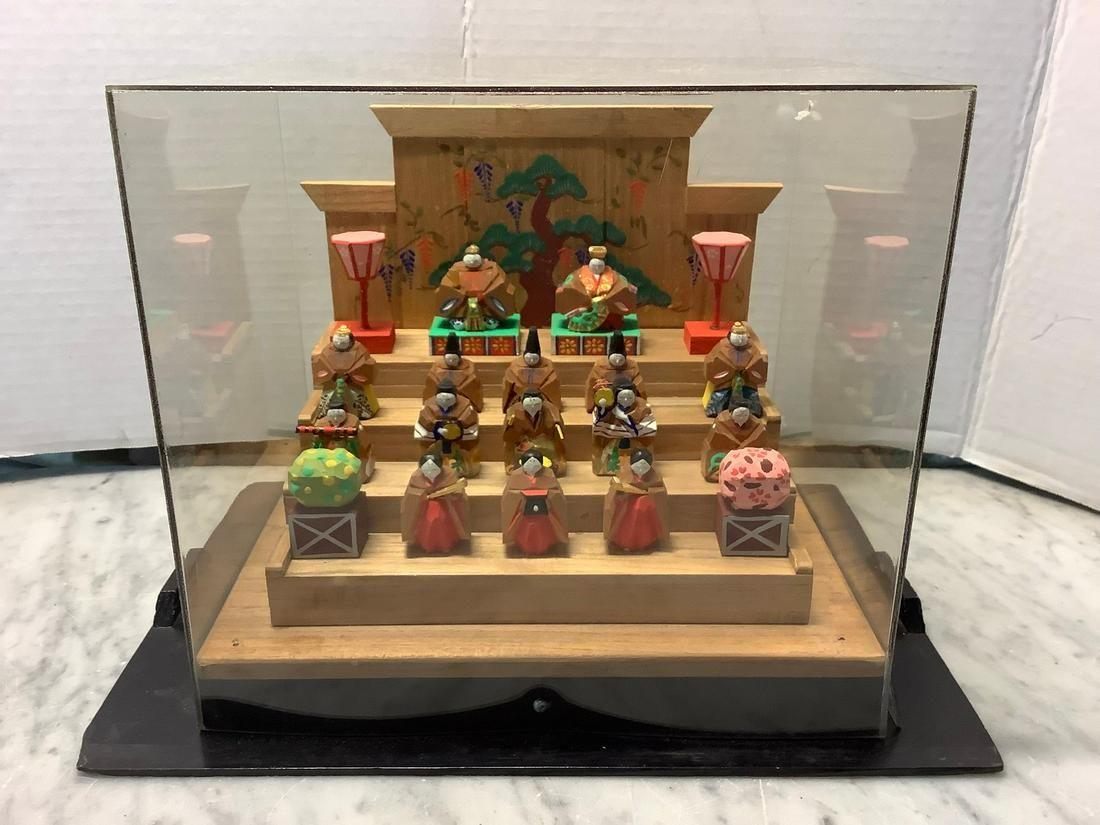 Newark Museum Carved Miniature Dolls Festival Group