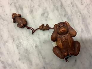 Newark Museum Set of Monkey See No Evil, Hear No Evil,