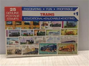 Sealed Pack of Foreign Trains Stamps