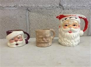 Lot of santa mugs and more
