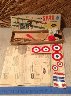 1957 Guillow's WWI French Spad Flying Model Kit -