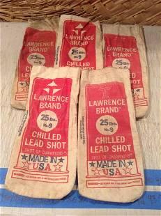 Vintage Lawrence Brand Lead Shot Bags