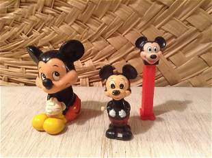 1977 Mickey Mouse Wind Up Toy and other Vintage Mickey