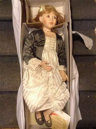 """Elite Porcelain """"Brittany"""" Doll in original box with"""