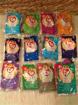 Large lot of McDonalds Ty Beanie Babies Sealed in the