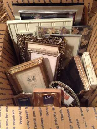 Box lot of Picture Frames Various Sizes