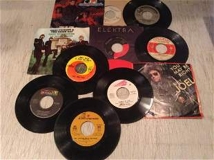 Large lot of Rock 45s - Beatles, Neil Young, Moody