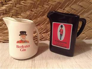 Beefeater Gin and Windsor Canadian Whiskey Pitchers