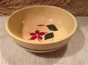 "Watt Pottery Starflower Bowl 11.5"""