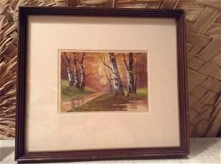 "Signed original Watercolor 17""x15"""