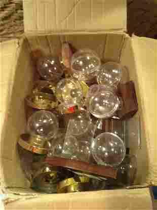 Box Full of Baseball Card and Ball Holders