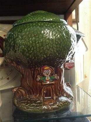"""Keebler Elves Treehouse Cookie Jar 10"""""""