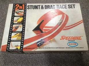 1968 Aurora Speedline Stunt and Drag Race Set in