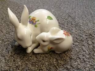 "Lenox Rabbit with Baby 3.5"" long"