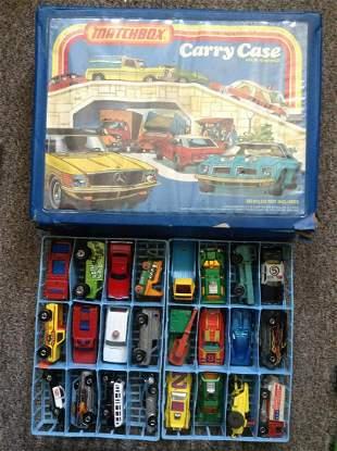 1978 Lesney Matchbox Carry Case full of Vintage