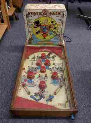 1940s State Fair Strength Tester Tabletop Pinball