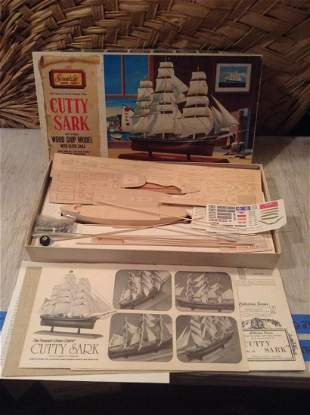 Vintage Cutty Sark Wood Ship Model Kit - Appears