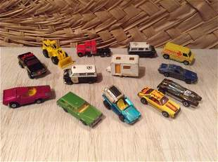 1970s Lesney Matchbox, Hotwheels and other vintage cars