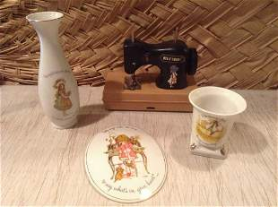 Holly Hobby 1975 Sewing Machine, Vase and more
