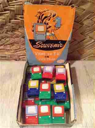 Original Box of Vintage Souvenir TV Viewers