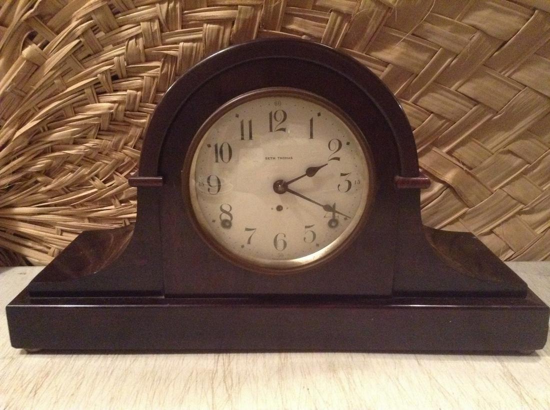 "Seth Thomas Mantle Clock 16.25"""