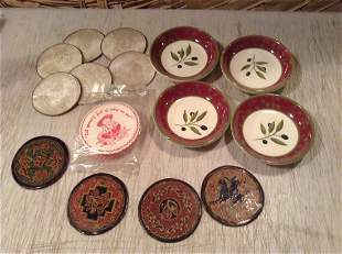 Large lot of Vintage Coasters and set of four small